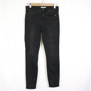 Madewell skinny high rise blk jeans size 25